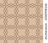 beige and brown geometric... | Shutterstock .eps vector #1030958146