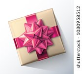 small paper gift box with big... | Shutterstock .eps vector #1030958512