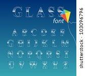 glass font. vector illustration.   Shutterstock .eps vector #103096796