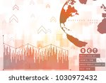 2d rendering stock market... | Shutterstock . vector #1030972432