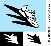 shoes in motion icons | Shutterstock .eps vector #1030976812