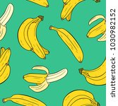 seamless pattern with bananas... | Shutterstock .eps vector #1030982152