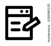 write notepad pencil  | Shutterstock .eps vector #1030985155