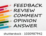 feedback  review  comment ... | Shutterstock . vector #1030987942