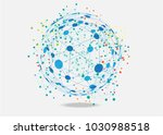 world connected. global network ... | Shutterstock .eps vector #1030988518
