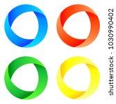 circular vector logo in 4...   Shutterstock .eps vector #1030990402
