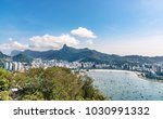 aerial view on botafogo bay of... | Shutterstock . vector #1030991332
