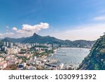 aerial view on botafogo bay of... | Shutterstock . vector #1030991392
