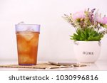 soft drink with ice on the top... | Shutterstock . vector #1030996816