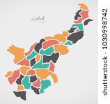 luebeck map with boroughs and...   Shutterstock .eps vector #1030998742