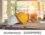 safety helmets for workplace... | Shutterstock . vector #1030998982