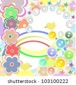 template greeting card  vector... | Shutterstock .eps vector #103100222