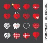 heart flat icons | Shutterstock .eps vector #1031002882