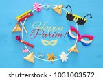 purim celebration concept ... | Shutterstock . vector #1031003572
