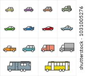cars icon sets minimalis lineart | Shutterstock .eps vector #1031005276