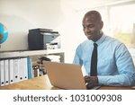 smiling african businessman...   Shutterstock . vector #1031009308
