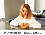 female freelancer concept.... | Shutterstock . vector #1031012512