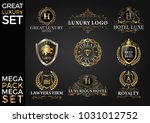 great luxury set  royal and... | Shutterstock .eps vector #1031012752