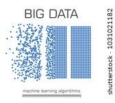 big data visualization. machine ... | Shutterstock .eps vector #1031021182