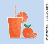 orange smoothie. healthy juice... | Shutterstock .eps vector #1031021896