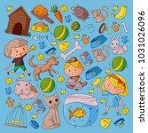 pet shop  zoo  veterinary.... | Shutterstock .eps vector #1031026096