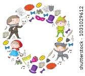 children theatre patterns.... | Shutterstock .eps vector #1031029612