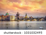 Famous Charles Bridge And Towe...