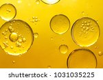 golden yellow bubble oil | Shutterstock . vector #1031035225