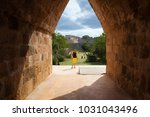 uxmal  mexico   january 30 ... | Shutterstock . vector #1031043496