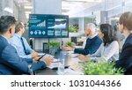 board of directors has annual... | Shutterstock . vector #1031044366