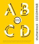 vector alphabet with minimal...   Shutterstock .eps vector #1031044468