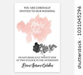 wedding invitation card ... | Shutterstock .eps vector #1031045296