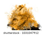 watercolor of fox forest animal ... | Shutterstock . vector #1031047912