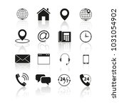 set of contacts us icons | Shutterstock .eps vector #1031054902