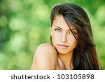 portrait of young beautiful... | Shutterstock . vector #103105898