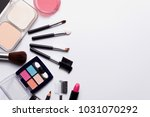 cosmetics on white background... | Shutterstock . vector #1031070292