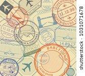 travel stamps or symbols set ...   Shutterstock .eps vector #1031071678
