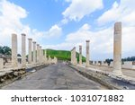 view of the roman era main... | Shutterstock . vector #1031071882