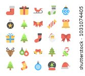 christmas flat vector icons