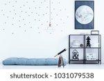simple kid's bedroom interior... | Shutterstock . vector #1031079538