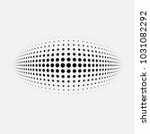 dotted abstract form. vector... | Shutterstock .eps vector #1031082292