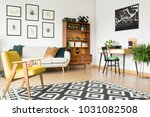 geometrically patterned rug... | Shutterstock . vector #1031082508