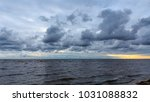 stormy weather  panorama of... | Shutterstock . vector #1031088832