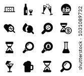 solid vector icon set  ... | Shutterstock .eps vector #1031089732
