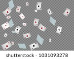 casino playing cards on... | Shutterstock .eps vector #1031093278