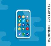 apps on the smartphone screen.... | Shutterstock .eps vector #1031104552
