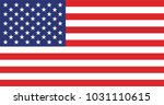 american flag for independence... | Shutterstock .eps vector #1031110615