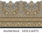 seamless paisley indian motif | Shutterstock . vector #1031116372