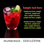 red alcohol cocktail with... | Shutterstock . vector #1031125546