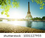 spring time in paris  eiffel... | Shutterstock . vector #1031127955